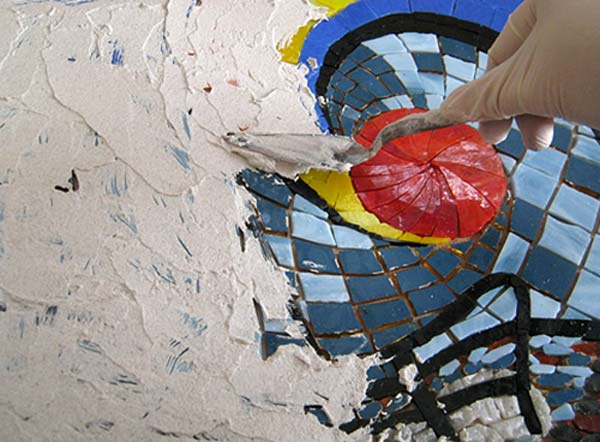 indirect mosaic 13 - روش غیرمستقیم ساخت کاشی شکسته