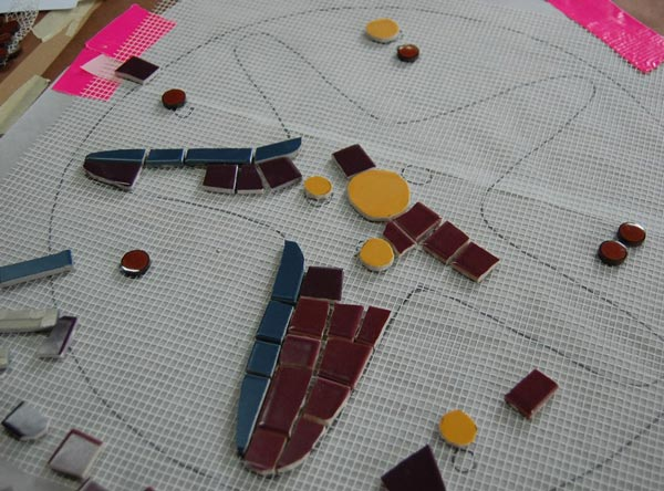 indirect mosaic 8 - روش غیرمستقیم ساخت کاشی شکسته