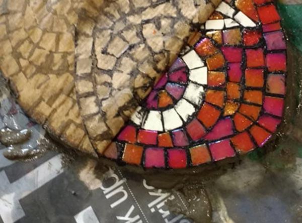 indirect mosaic 9 - روش غیرمستقیم ساخت کاشی شکسته