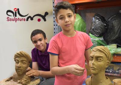 mojasamesazi nojavan class mojasame - مجسمه سازی ، آموزش مجسمه سازی ، آموزشگاه مجسمه سازی
