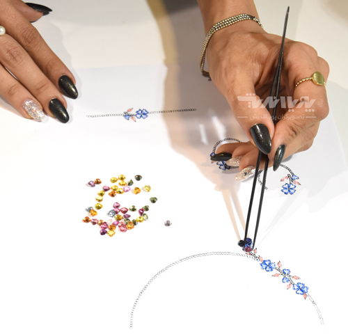 tarahi javaher javahersazi jewelry - طراحی دستی جواهرات
