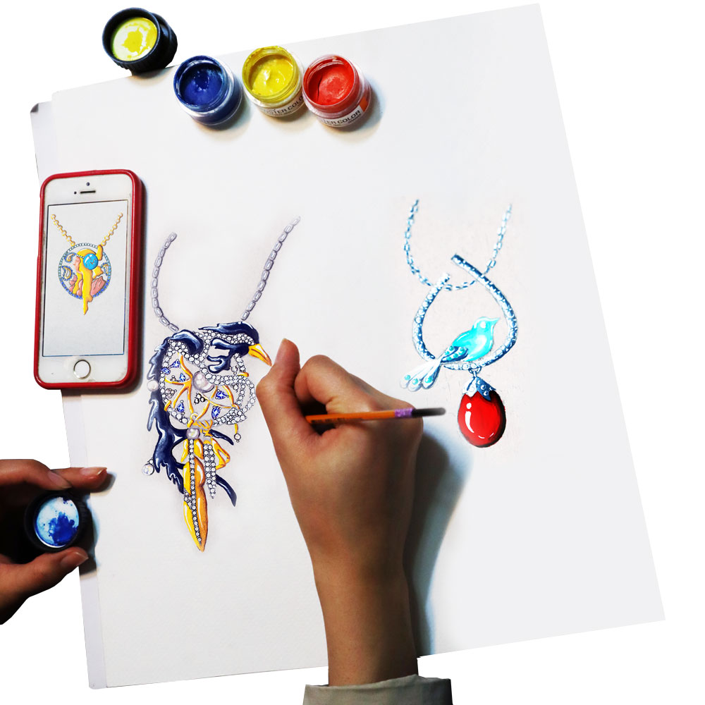 tarahi javaher javahersazi jewelry 2 - طراحی دستی جواهرات